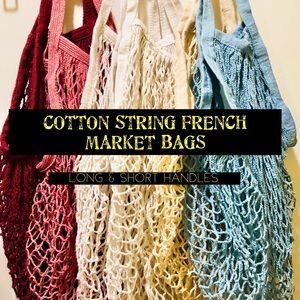 Handbags - ♻️ECO-FRIENDLY COTTON STRING FRENCH MARKET BAGS♻️